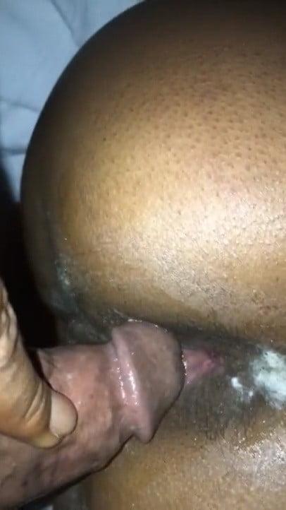 Ebony Amateur anal doggy style